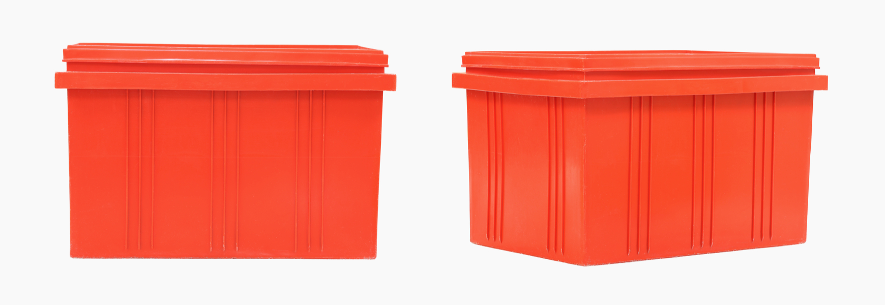 red plastic box storage for defective products