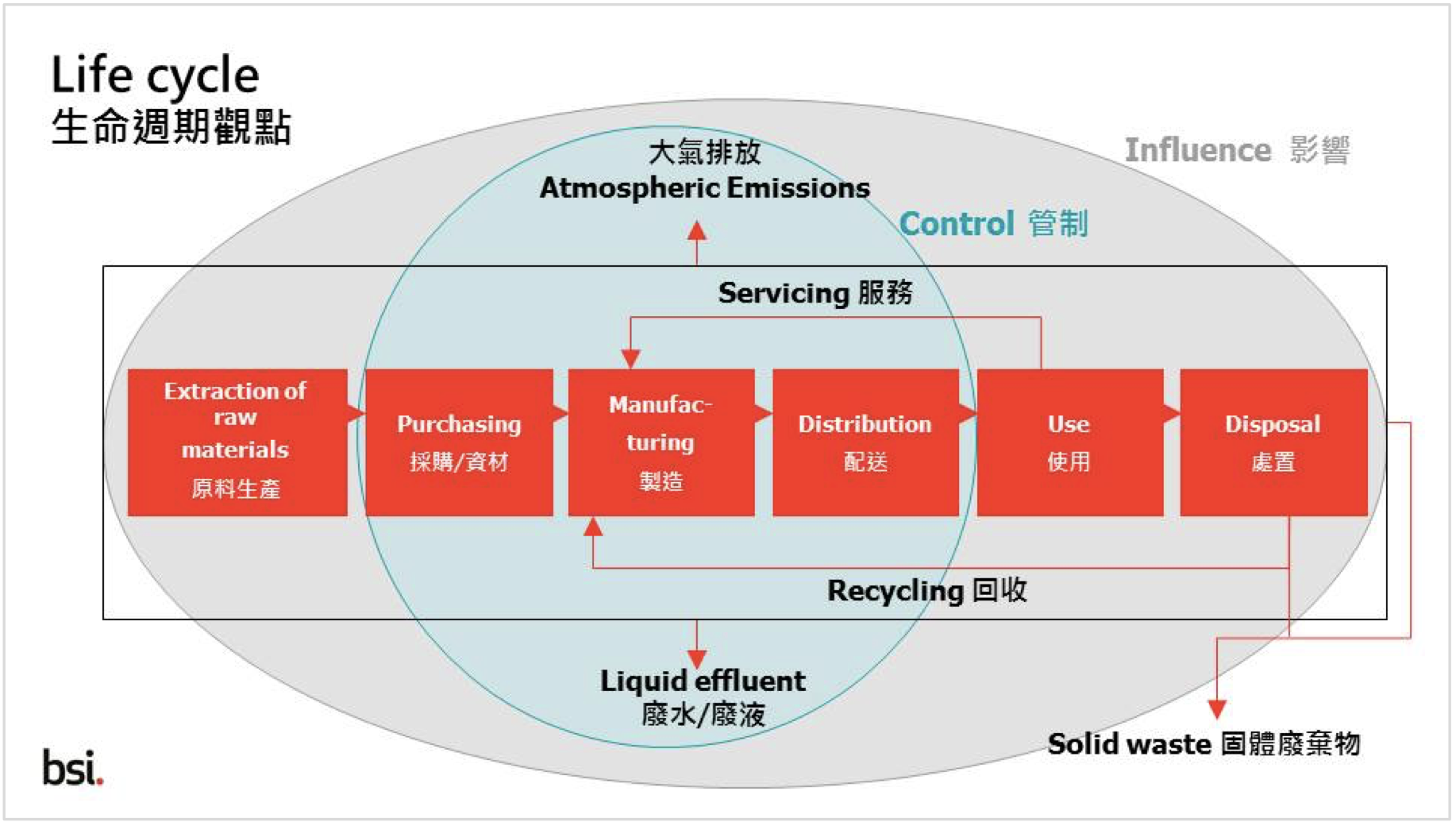 Environmental Management System (EMS) - Life Cycle Diagram (British Standards Institution)