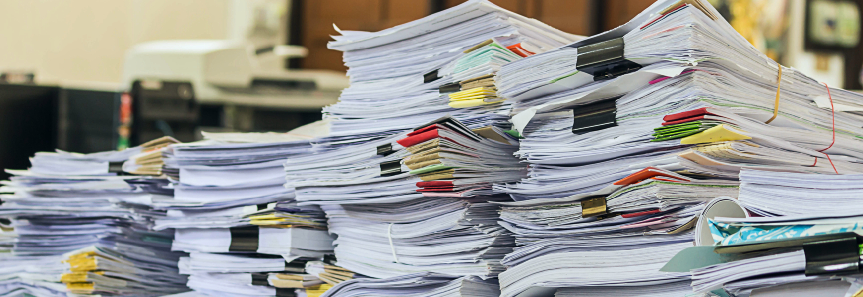 stack of papers documents