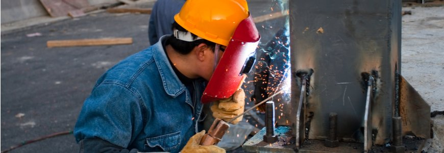 Welder in a Chinese factory