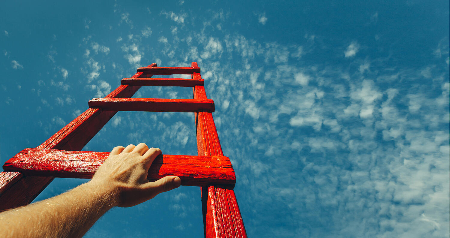 Climbing Up ladder to success