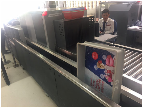 non automated airport security process