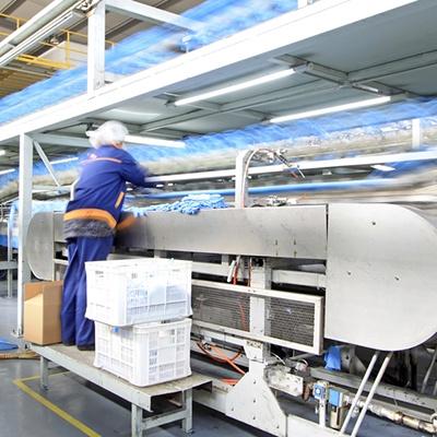 Factory line arrangement