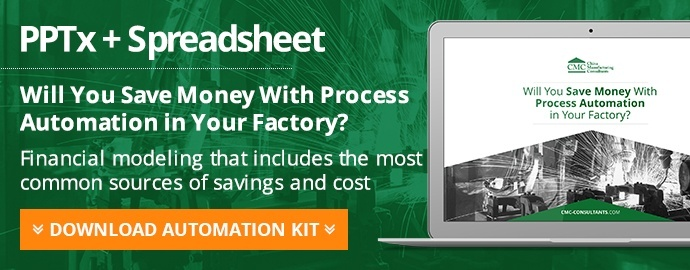 """Will You Save Money With Process Automation in Your Factory"" [PPT + sheet]"